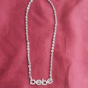 Bebe logo necklace